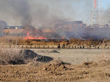 多摩川の火事