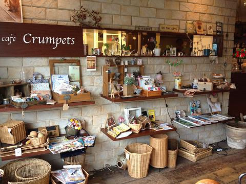 cafe Crumpets店内