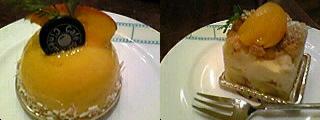マンゴー・ココナッツムースとチーズケーキ