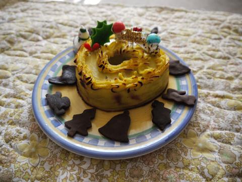 ミニハートミートローフクリスマスケーキ
