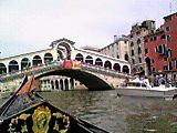 ゴンドラから見たリアルト橋