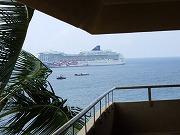 ロイヤルコナリゾートのラナイからの眺め