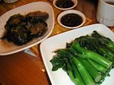 池記の?油芥蘭と椎茸炒め
