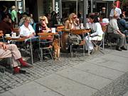 マリエン広場のカフェ