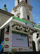 レジデンツ広場の巨大スクリーン