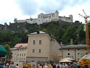 ホーエンザルツブルク城塞往きのケーブルカー乗り場はもうすぐ
