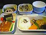 往きの機内食