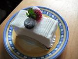 L'oeufのレアチーズケーキ