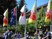 日本とオーストラリアの国旗