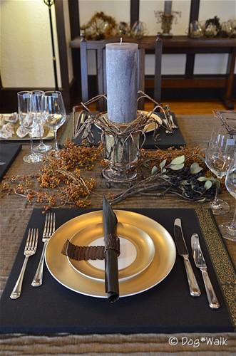 クリスマスセッティングのテーブル