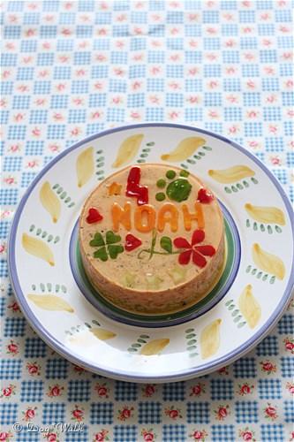 クランペットの誕生日ケーキ