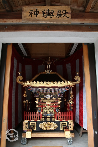 川勾神社のお神輿