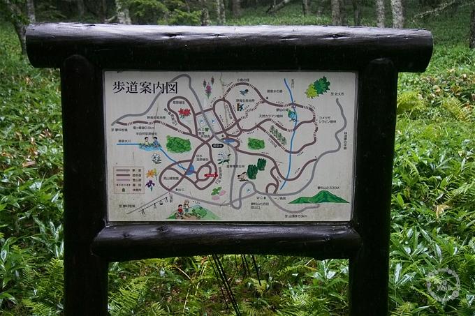 御泉水歩道案内図