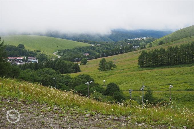 車山のリフトからの眺め