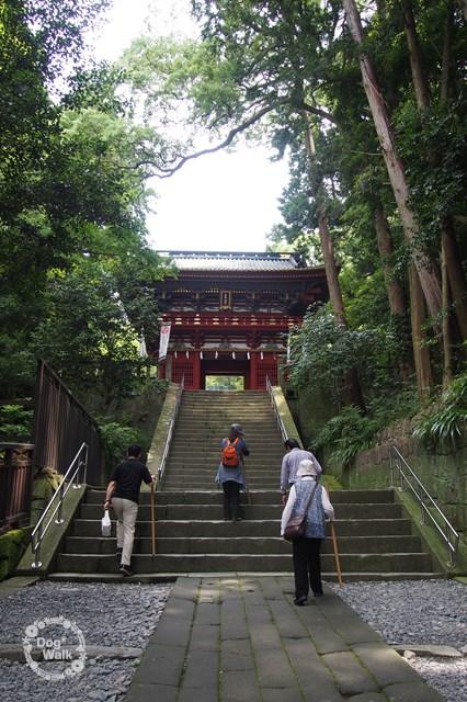 久能山東照宮楼門への階段