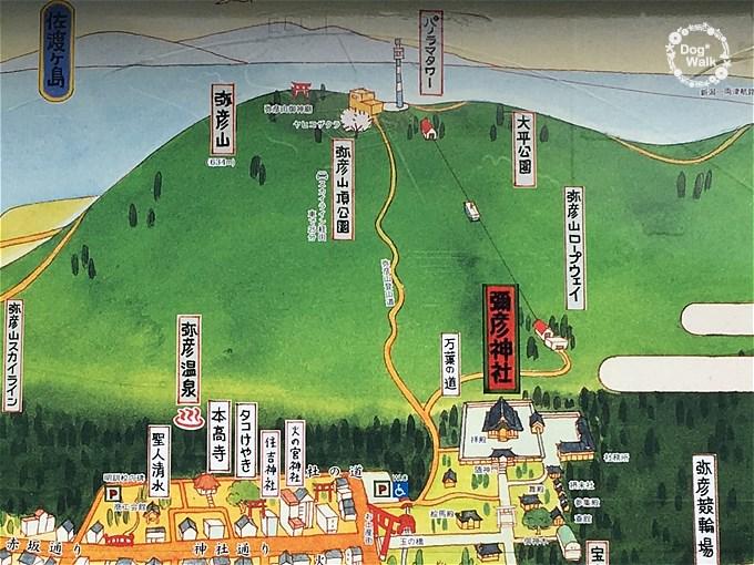 弥彦山鳥瞰図